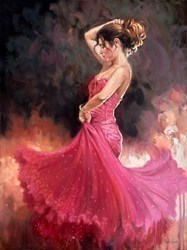 Crimson Dress by Mark Spain -  sized 24x32 inches. Available from Whitewall Galleries